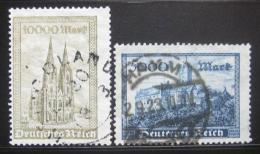 Poštovní známky Nìmecko 1923 Architektura Mi# 261-62
