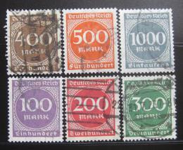 Poštovní známky Nìmecko 1923 Nominální hod Mi# 268-73