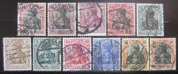 Poštovní známky Nìmecko 1905-19 Germania Mi# 84-93,104 Kat 44.30€y