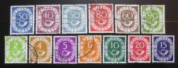 Poštovní známky Nìmecko 1951-52 Poštovní trubky Mi# 123-26, 128-30, 132-35, 137-38