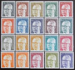 Poštovní známky Nìmecko 1970-73 Prezident Heinemann Mi# 359, 361-67, 369-70, 394-96, 427-33