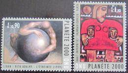 Poštovní známky OSN Ženeva 2000 Umìní Mi# 389-90