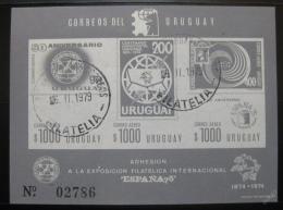 Poštovní známka Uruguay 1975 ESPANA neperf. Mi# Block 23 B