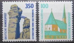 Poštovní známky Nìmecko 1989 Pamìtihodnosti Mi# 1406-07