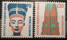 Poštovní známky Západní Berlín 1988 Pamìtihodnosti Mi# 814-15