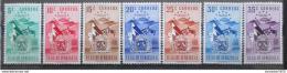 Poštovní známky Venezuela 1952 Znak Aragua, RARITA Mi# 740-46 Kat 70€