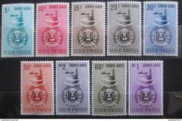 Poštovní známky Venezuela 1951 Znak Anzoateguí, RARITA Mi# 721-29 Kat 75€