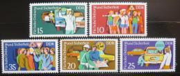 Poštovní známky DDR 1975 Dopravní policie Mi# 2078-82