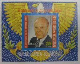 Poštovní známka Rovníková Guinea 1975 Generál Ford Mi# Block 175