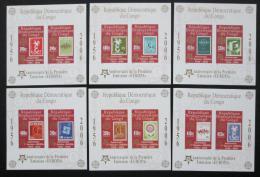 Poštovní známky Kongo Dem., Zair 2005 Evropa CEPT, neperf. Mi# Bl 249-54 B Kat 50€