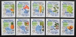 Poštovní známky Pobøeží Slonoviny 2005 Evropa CEPT Mi# 1461-70 Kat 23€