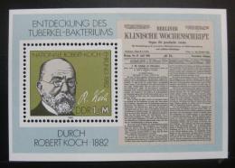 Poštovní známka DDR 1982 Robert Koch Mi# Block 67