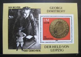 Poštovní známka DDR 1982 Jiøí Dimitrov Mi# Block 68