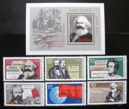 Poštovní známky DDR 1983 Karel Marx Mi# 2783-88 + Block 71