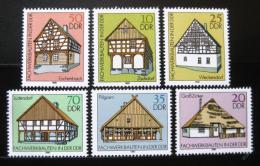 Poštovní známky DDR 1981 Døevìné domy Mi# 2623-28