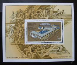 Poštovní známka DDR 1981 Sportovní centrum Mi# Block 64
