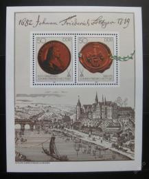 Poštovní známky DDR 1982 Míšeòský porcelán Mi# Block 65