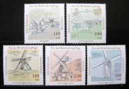 Poštovní známky Nìmecko 1997 Mlýny Mi# 1948-52 Kat 13€