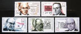 Poštovní známky DDR 1989 Slavní muži Mi# 3230-34