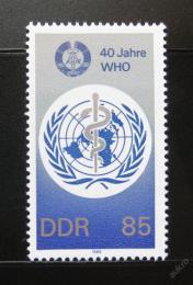 Poštovní známka DDR 1988 Výroèí WHO Mi# 3214
