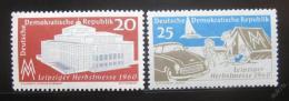 Poštovní známky DDR 1960 Lipský veletrh Mi# 781-82