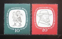 Poštovní známky DDR 1958 Heinrich Zille Mi# 624-25