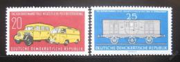 Poštovní známka DDR 1960 Poštovní vozy Mi# 789-90