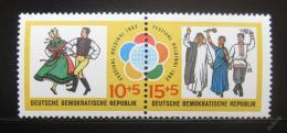 Poštovní známka DDR 1962 Lidový tanec, pár Mi# 905-06