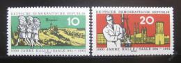Poštovní známka DDR 1961 Založení Halle Mi# 833-34