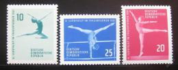Poštovní známka DDR 1961 Pohár v gymnastice Mi# 830-32