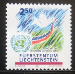 Poštovní známka Lichtenštejnsko 1991 Èlenství v OSN Mi# 1015