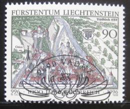 Poštovní známka Lichtenštejnsko 1996 Rakousko milénium Mi# 1137