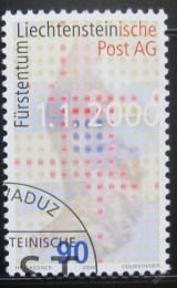 Poštovní známka Lichtenštejnsko 2000 Vytvoøení pošty Mi# 1226