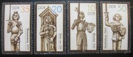 Poštovní známky DDR 1989 Sochy Rolanda Mi# 3285-88