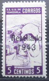 Poštovní známka Venezuela 1943 Sestra, pøetisk Mi# 378 Kat 20€