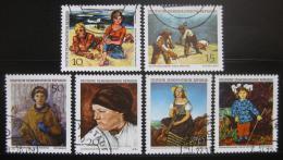 Poštovní známky DDR 1968 Umìní Mi# 1393-98