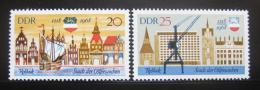 Poštovní známky DDR 1968 Rostock Mi# 1384-85