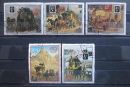 Poštovní známky Paraguay 1990 Poštovní pøeprava Mi# 4477-81