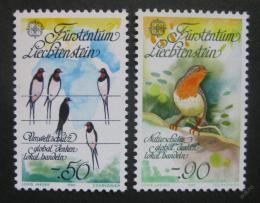 Poštovní známky Lichtenštejnsko 1986 Evropa CEPT, ptáci Mi# 893-94