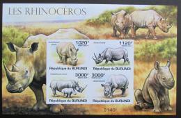 Poštovní známky Burundi 2011 Nosorožci, neperf. Mi# Block 168 B