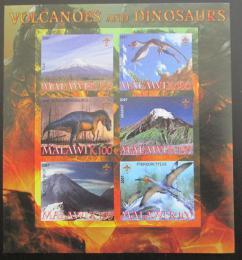 Poštovní známky Malawi 2007 Dinosauøi a sopky neperf. Mi# N/N