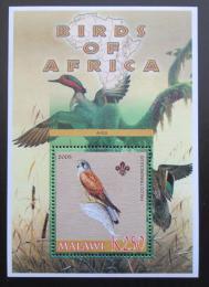 Poštovní známka Malawi 2005 Poštolka obecná, skauting