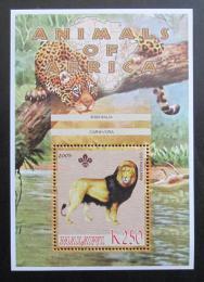 Poštovní známka Malawi 2005 Lev pustinný, skauting