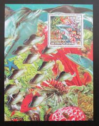 Poštovní známka Pobøeží Slonoviny 2002 Ryby, podmoøský svìt