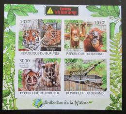 Poštovní známky Burundi 2012 Ohrožená zvíøata Mi# 2620-23 B