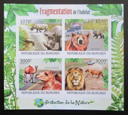 Poštovní známky Burundi 2012 Ohrožená zvíøata Mi# 2615-18 B