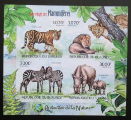Poštovní známky Burundi 2012 Ohrožená zvíøata Mi# 2625-28 B