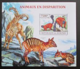 Poštovní známka Burundi 2013 Ohrožená fauna neperf. Mi# Block 386 B