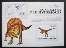 Poštovní známka Komory 2009 Dinosauøi neperf. Mi# Block 482 B
