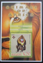 Poštovní známka Malawi 2005 Mandril rýholící, skauting